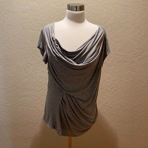 NWOT Anthropologie /Bordeaux draped grey T Size XL